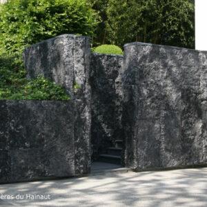 Mur pierre bleue croute