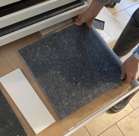 Dalle pierre bleue EnoStyl foncé