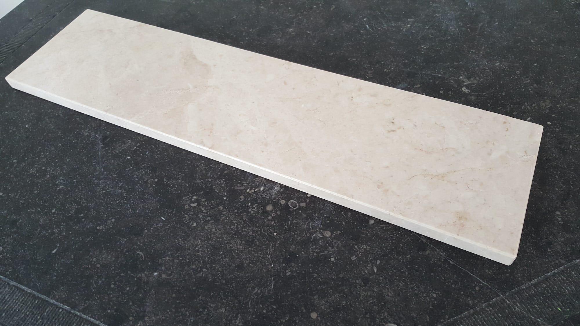 Tablette polie en marbre Ivoire Rosé